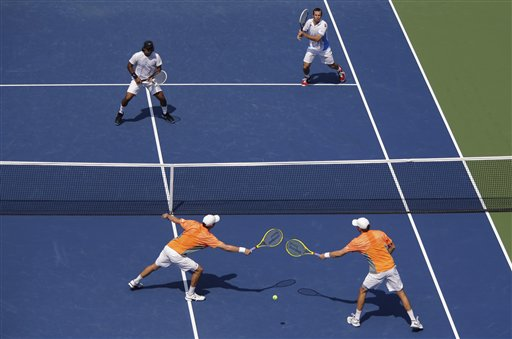 Radek Stepanek, Leander Paes Mike Bryan, Bob Bryan