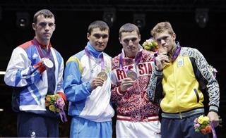 Freddie Evans, Serik Sapiyev, Andrey Zamkovoy, Taras Shelestyukduring