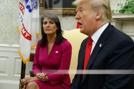 APTOPIX Trump Haley