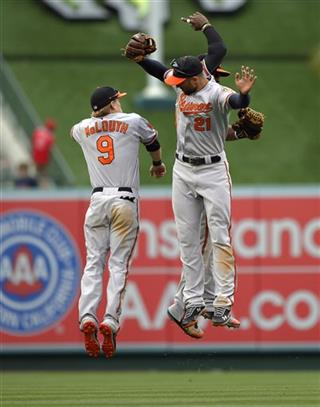 Nate McLouth, Nick Markakis, Adam Jones
