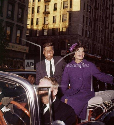 Watchf Associated Press Domestic News  New York United States APHS65117 JOHN KENNEDY        campaigning with wife  1960