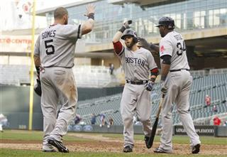 Dustin Pedroia, David Ortiz, Jonny Gomes