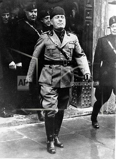 Associated Press International News Italy BENITO MUSSOLINI