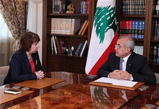 Michel Suleiman, Catherine Ashton