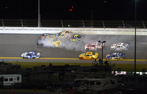 Denny Hamlin, Jimmie Johnson, Kyle Busch, Jeff Gordon, Kevin Harvick, Joey Logano, Mark Martin, Martin Truex Jr., Carl Edwards