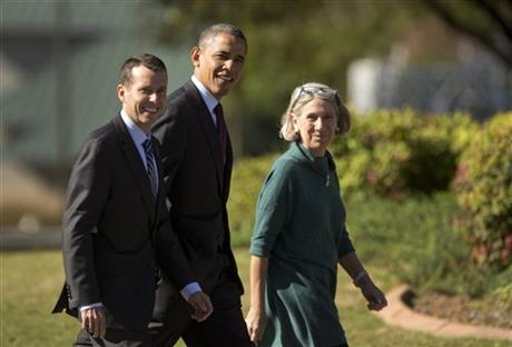 Barack Obama, David Plouffe, Anita Dunn