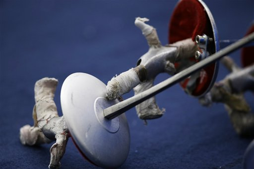 APTOPIX London Olympics Fencing