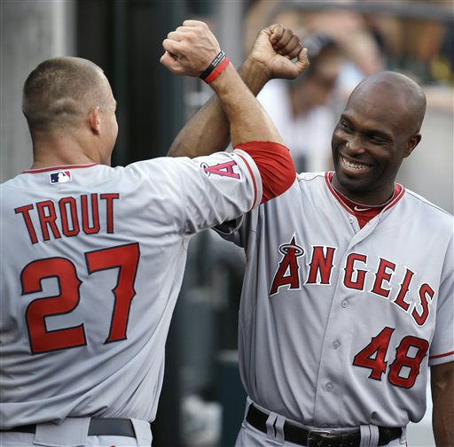 Mike Trout, Torii Hunter