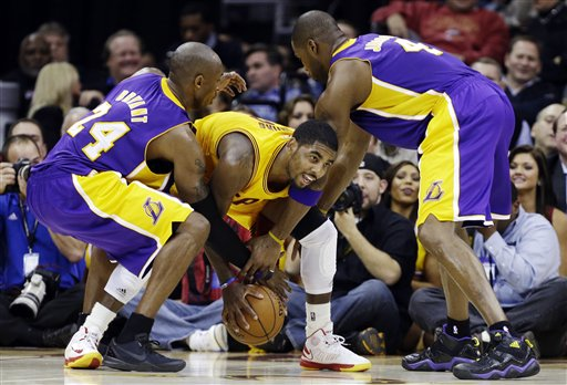 Kobe Bryant, Antawn Jamison, Kyrie Irving
