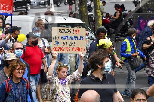 France: French hospital workers protesting in Paris