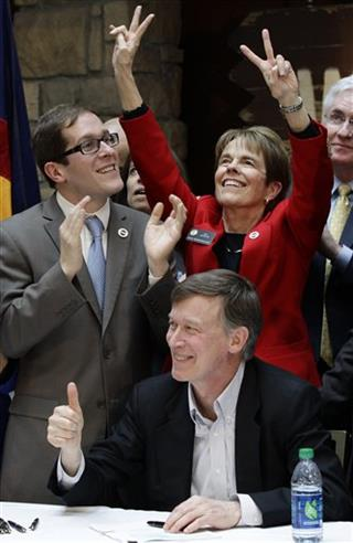 John Hickenlooper, Mark Ferrandino, Sue Schafer