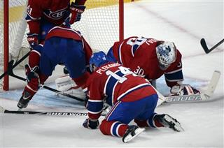 Josh Gorges, Tomas Plekanec, Peter Budaj,