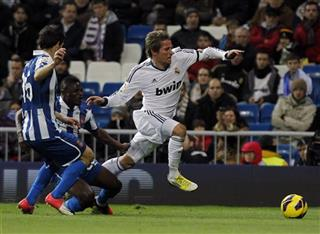 Javi Lopez, Fabio Coentrao, Wakaso Mubarak 