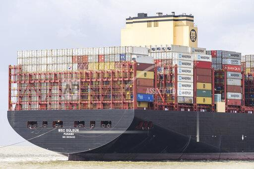 World's largest container ship in Bremerhaven