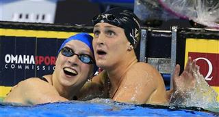 Katie Ledecky, Leah Smith