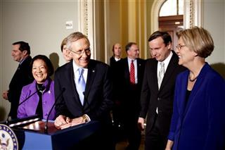 Harry Reid, Joe Donnelly, Mazie Hirono, D-Hawaii, Tammy Baldwin, Tim Kaine, Christopher Murphy, Elizabeth Warren