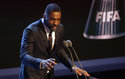 FILE - In this file photo dated Monday, Oct. 23, 2017, Actor Idris Elba speaks during The Best FIFA 2017 Awards in London. British actor Idris Elba has stoked speculation he may take over the role of James Bond when Daniel Craig steps aside, offering an enigmatic Twitter post Sunday Aug. 12, 2018, saying