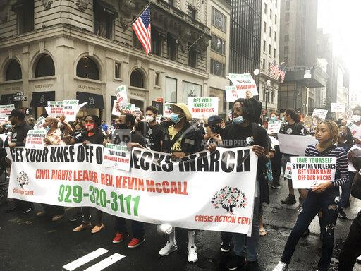 """Get Your Knee Off Our Necks"" March at Trump Tower - 7/31/20"