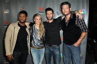 Usher, Shakira, Adam Levine, Blake Shelton