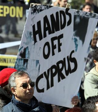APTOPIX Greece Cyprus Financial Crisis