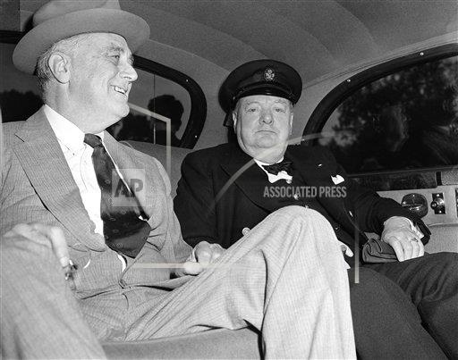 Watchf Associated Press Domestic News  Dist. of Col United States APHS129477 Winston Churchill and Franklin D Roosevelt
