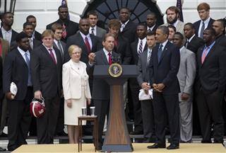 Barack Obama, Nick Saban, Judy Bonner