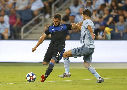 SOCCER: AUG 17 MLS - San Jose Earthquakes at Sporting Kansas City