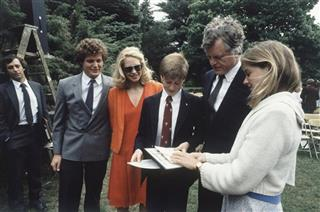 Kennedy At Sons Graduation 1983