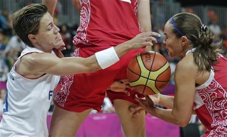 Celine Dumerc, Natalya Vieru, Becky Hammon