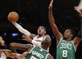 Carmelo Anthony, Kevin Garnett, Jeff Green