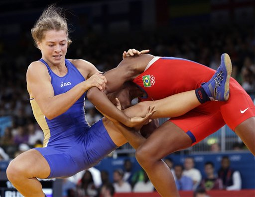 Against valeriia zholobova of russia in blue during a 55 kg women