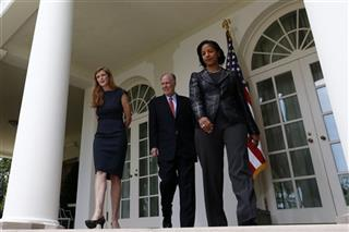 Susan Rice, Tom Donilon, Samantha Power