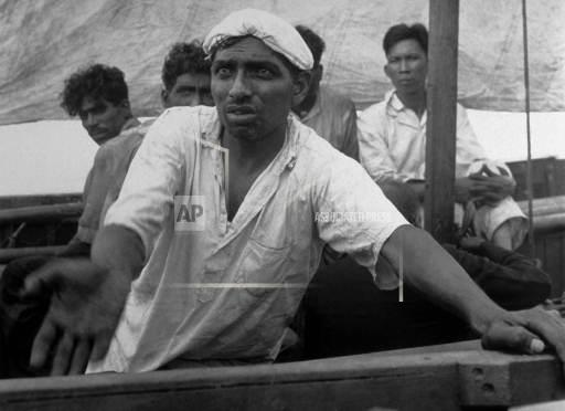 Associated Press International News At Sea INDIAN LIFEBOAT SURVIVORS