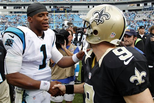 Cam Newton, Drew Brees (9)