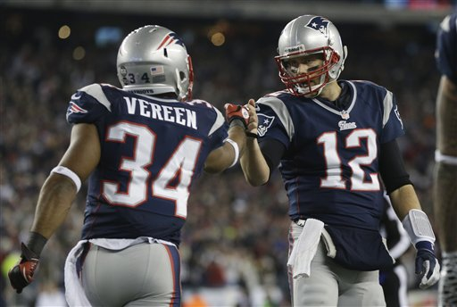 Shane Vereen, Tom Brady