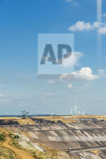 Germany, Garzweiler surface mine with power stations Frimmersdorf and Neurath