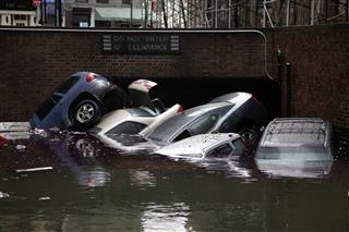 Superstorm Flooded Cars
