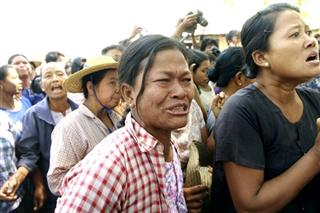 Myanmar Mine Protest