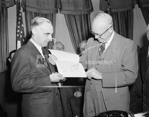 Watchf Associated Press Domestic News  Dist. of Col United States APHS160384 Dwight Eisenhower 1955