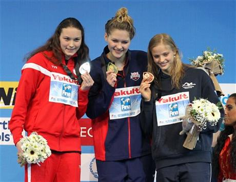 Olivia Smoliga, Mie Oestergaard Nielsen, Simona Baumrtova