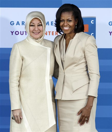 Michelle Obama, Hayrunnisa Gul