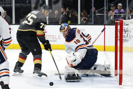 Oilers Golden Knights Hockey