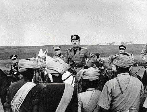Associated Press International News Italy MUSSOLINI GREETS AFRICAN TROOPS