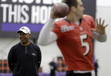 Jim Caldwell, Joe Flacco
