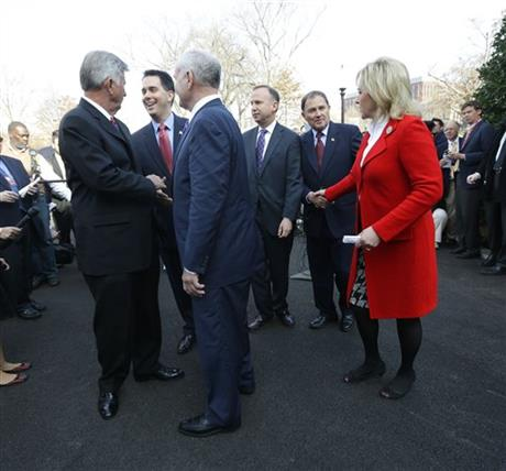 Jack Markell, Mary Fallin, Mike Beebe, Mark Dayton, Gary Herbert, Scott Walker