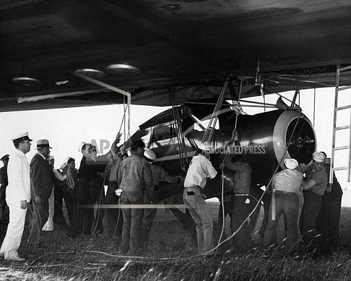Watchf Associated Press Domestic News  New Jersey United States APHS58619 PLANE GOES ABOARD THE HINDENBURG