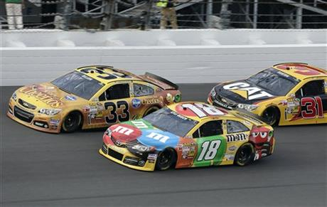 Kyle Busch, Austin Dillon, Jeff Burton