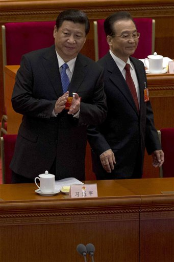 Xi Jinping, Hu Jintao, Wen Jiabao