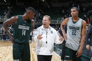 Tom Izzo, Eron Harris, Miles Bridges