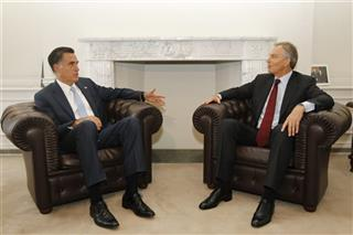 Mitt Romney, Tony Blair